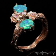 Top rainbow aa+ Natural Blue Opal 925 Sterling Silver Ring Size 8.25/R35164 #APBJewelry #Ring