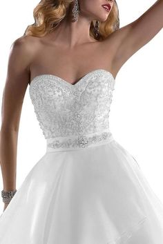 Angel Bride Wedding Dresses A-Line Long Dresses Organza Sweetheart