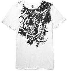 McQ Alexander McQueen - Printed Cotton T-Shirt MR PORTER