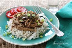 Slow Cooker Filipino Adobo Pulled Pork - I make this at least once a month because it's just so darn easy to make and everyone loves it.
