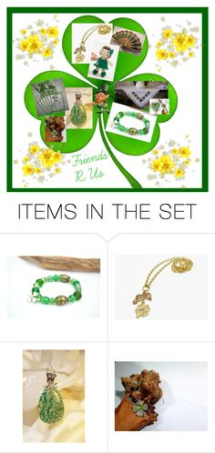 """""""Friend R Us ~ St. Patrick's Day"""" by vanessa-stuart-carretta ❤ liked on Polyvore featuring art and etsyfru"""