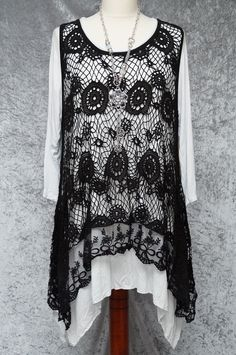 c3ccb90b0e5c8 Stunning top - I have some lovely crochet fabric that would look lovely made  up in this style.