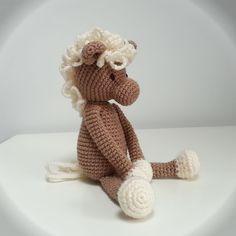 Doudou poney au crochet cheval, cadeau de naissance amigurumi, baptême cuddly toy horse : Jeux, jouets par filiz-the-cat