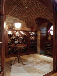 cave-vin-domicile-bouteilles-support-bois cave à vin