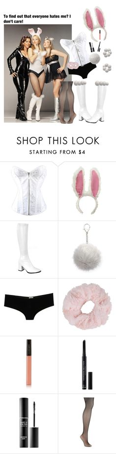 """Regina George Inspired xxx ( Mean Girls 2004 )"" by the-diana-prince ❤ liked on Polyvore featuring Carole, D&G, New Look, Illamasqua, Christian Dior, MAKE UP FOR EVER and Hanes"