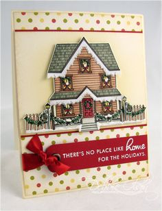 Home For The Holidays Card by Debbie Olson for Papertrey Ink (September 2009)