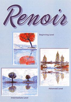 """Renoir Art Projects for Kids:  Your students will discover the techniques of the impressionists while learning about Auguste Renoir's beautiful """"rainbow palette.""""  In their classrooms they will create a landscape with impressionistic color reflections."""