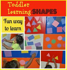 Toddler Learning Activity with contact paper from Toddler Approved