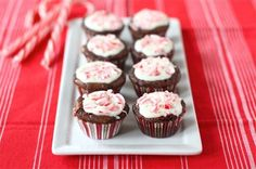 Pin for Later: 16 Festive Candy Cane Recipes For Kids of All Ages Peppermint Crunch Brownie Bites