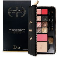 Dior All-in-One Couture Palette ($89) ❤ liked on Polyvore featuring beauty products, makeup, no color, christian dior, christian dior makeup, christian dior cosmetics and palette makeup