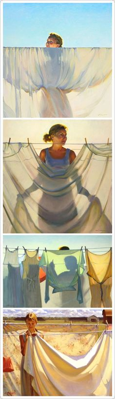 Painting concentration idea w/ fabric. Light and shadow