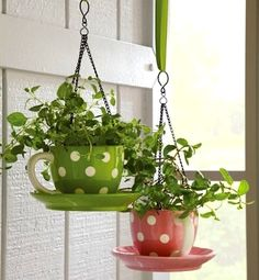 Make these gorgeous DIY hanging planters for indoors, or out! These hanging wall planters and ceiling planters are easy to make!