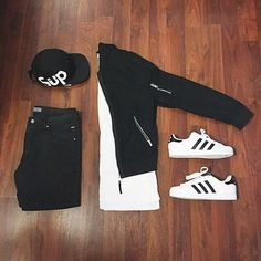 Outfit grid - Black & white