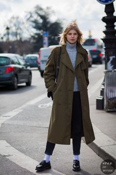 Ola Rudnicka Street Style Street Fashion Streetsnaps by STYLEDUMONDE Street Style Fashion Photography
