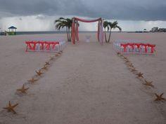 Starfish Aisle Way Decorating Kit For Beach by BeachWeddingSupply