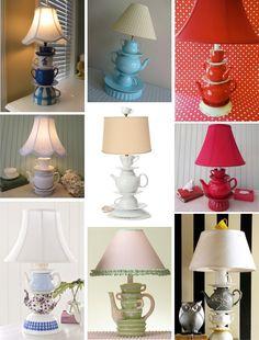 DIY Teacup LampTutorial (no drilling)