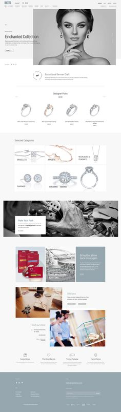 Start a luxury, jewelry or elegant WooCommerce store in just a few minutes. Luxury Jewelry, Wordpress Theme, Most Beautiful Pictures, Ecommerce, Web Design, Jewelry Necklaces, Photoshop, Paris, Elegant