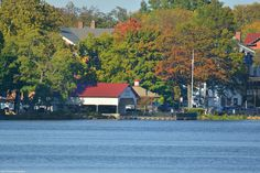 Autumn Shot of the Bristol Borough Waterfront on the Delaware River