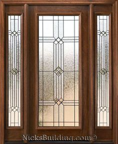 full glass door with fancy glass noe talk about making your flip house have some curb appeal