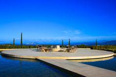 One of Edward Tuttle's signature reflecting pools at Amanzo'e Resort, Greece.