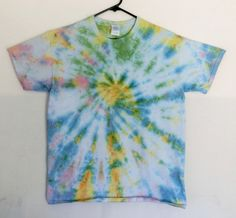 A9 - Adult Large - L - tie-dye t-shirt - pastel blue yellow green pink spiral unique urban dope vintage nostalgic style pastel goth grunge by 710visuals on Etsy