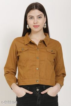 Jackets Fancy Women's Jackets Fabric: Cotton Sleeve Length: Long Sleeves Pattern: Solid Multipack: 1 Sizes:  S (Bust Size: 36 in Length Size: 28 in)  XL (Bust Size: 42 in Length Size: 28 in)  L (Bust Size: 40 in Length Size: 28 in)  M (Bust Size: 38 in Length Size: 28 in) Country of Origin: India Sizes Available: S, M, L, XL, XXL   Catalog Rating: ★4.2 (17234)  Catalog Name: Comfy Fabulous Women Jackets CatalogID_758744 C79-SC1023 Code: 023-5139128-