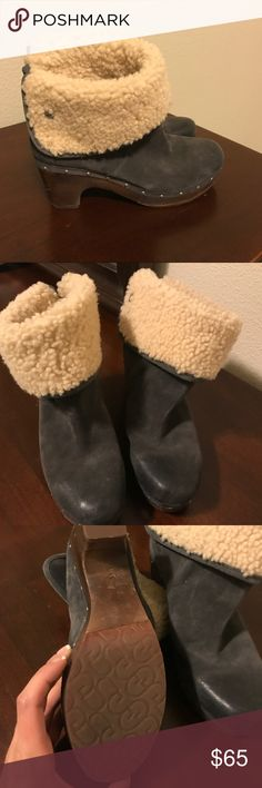 Worn in great condition UGG booties size 8 These are worn but in great condition UGG booties size 8. Please ask me questions and offers are welcome! Thank you! UGG Shoes Ankle Boots & Booties