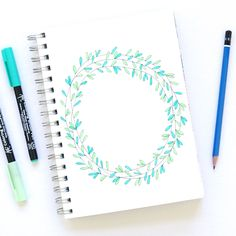 SaraFunduk.com » How to Draw a Floral Wreath
