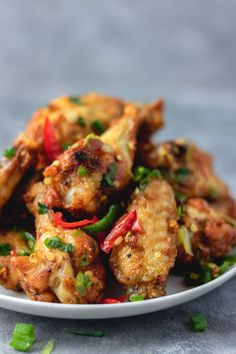 These salt and pepper chicken wings are full of flavours and would your takeaway a run for their money. easy Salt and pepper chicken wings to make at home Salt And Chilli Chicken, Salt And Chilli Chips, Chilli Chicken Recipe, Chicken And Chips, Salt And Pepper Shrimp, Appetizer Recipes, Dinner Recipes, Shrimp Recipes, Chinese Chicken Wings