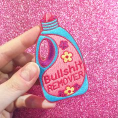 Bullshit Remover iron-on Patch from the Candy Doll Club #JadeBoylan