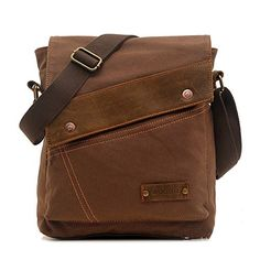 Sechunk Cotton Canvas Leather Messenger bags Shoulder Bag Crossbody Bag Satchel Bag Book bag Laptop Bag Working Bag Laptop Bag Computer Bag Weekend Bag Ipad -- Find out more about the great product at the image link.