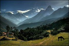 Nepal - Mt Amadablam in the background