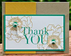 Stylin' Stampin' INKspiration: NEW In Colors: Color Combinations, Kim Ryden, Stampin' Up!, Blended Bloom, Another Thank You, Hello Honey with Bermuda Bay