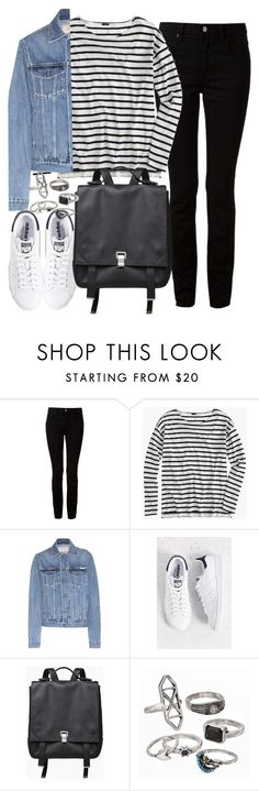 """""""Untitled #3579"""" by plainly-marie ❤ liked on Polyvore featuring Alexander Wang, J.Crew, Calvin Klein Jeans, adidas, Proenza Schouler and Mudd"""