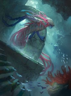 Fathom Feeder - MTG by ClintCearley.deviantart.com on @DeviantArt