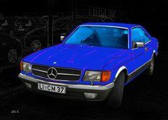 Mercedes-Benz Coupé in blue & black (S-Klasse, C 126)