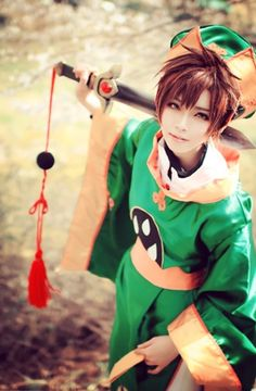 Cosplay Anime Costume Syaoran from Cardcaptor Sakura. Cosplay Anime, Sakura Cosplay, Cosplay Boy, Epic Cosplay, Cute Cosplay, Cosplay Makeup, Amazing Cosplay, Cardcaptor Sakura, Syaoran