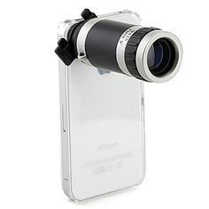 Optical+8X+Zoom+Telescope+Camera+Lens+Manual+Focus+with+Hard+Back+Case+for+Apple+iPhone4+4S+–+USD+$+9.99
