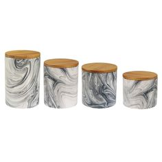 Marble 4 Piece Kitchen Canister Set