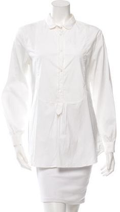 Burberry Long Sleeve Button-Up Tunic w/ Tags