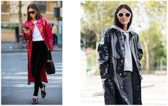 Street Style wearing the Isabel Marant Patent Coat | Curated Here