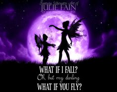 What if I fall Oh, but my darling. What if you fly Print ~ Silhouette Art,  Mermaid Art, Dragon Art, Goddess Art, Unicorn Art by Julie Fain