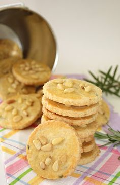 My Kitchen Snippets: Cheesy Pine Nut Rosemary Cookies
