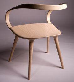Velo Chair, chaise en bois de frêne par le designer britannique Jan Waterston - Journal du Design