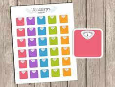 Scale Stickers Weight Stickers Planner Stickers by SGStationery