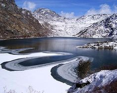 The placid waters of Sikkim India
