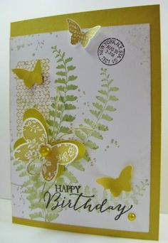 Another Butterfly Birthday Collage Card by Barb Mann - Cards and Paper Crafts at Splitcoaststampers