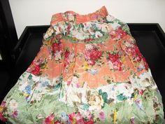 Vintage 80s Orient's Exclusive by Kohli Skirt Red Green Orange Floral Medium   #Kohli