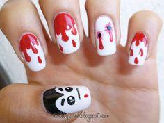 halloween nail art   hope you like it!