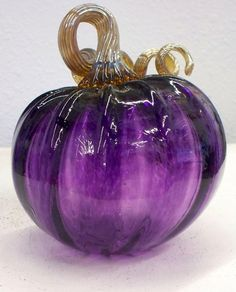 Hand Blown Glass Art Purple Pumpkin Oneil 3208 by oneilsarts, $55.00 I have the orange and brown one.